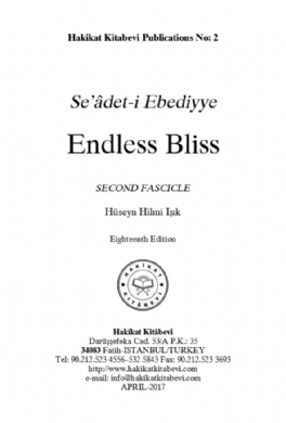 Seâdet-i Ebediyye Endless Bliss Second Fascicle