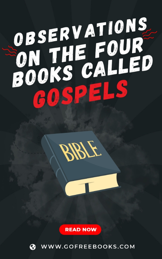 Observations on the four books called Gospels