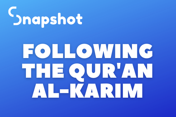 Following The Qur'an Al-Karim